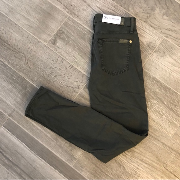 7 For All Mankind Denim - NWT 7 For All Mankind Green Super Skinny Jeans